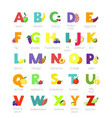 fruit alphabet alphabetical vegetables font vector image