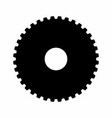 gear dark silhouette vector image vector image