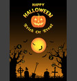 halloween zombie hand on grave with dead tree vector image vector image