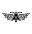 hand drawn motorcycle with wings design element vector image vector image