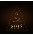 Happy New Year background gold rain vector image vector image