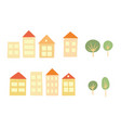houses and trees vector image