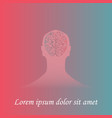 human brain in mans silhouette vector image vector image