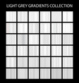 light grey color gradients collection bright vector image