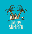 linear design with summer beach concept vector image vector image