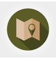 map mark icon vector image vector image