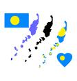 map of Palau vector image vector image