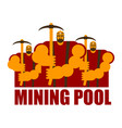 mining pool logo extraction of bitcoin crypto vector image vector image