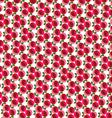 mod rose pattern vector image vector image