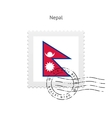 Nepal Flag Postage Stamp vector image vector image