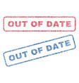 out of date textile stamps vector image vector image