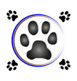 paw print dog vector image vector image