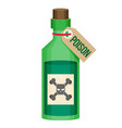 poison bottle flat icon vector image vector image