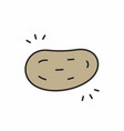 potato icon vector image vector image