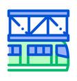 public transport suspention railway icon vector image vector image