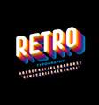 Retro style colorful 3d font design