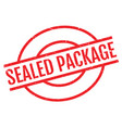 sealed package rubber stamp vector image vector image