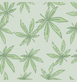 seamless doodle random pattern with light green vector image vector image