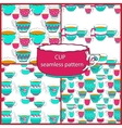 Seamless patterns of the doodle various bright vector image vector image