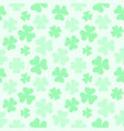 seamless soft colored clover pattern vector image vector image