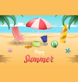 seaside relax banner template water sports vector image vector image