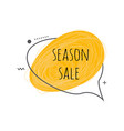 season sale text design on grunge scratch textured vector image vector image