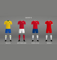 set of football kit vector image