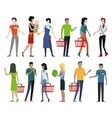 Set of Shopping Characters vector image vector image