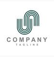simple un nu initials company logo vector image