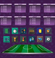Soccer Scoreboard Groups and Teams and Icons vector image vector image