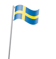 sweden flag3 vector image vector image