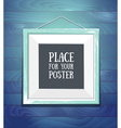 template of square frame with poster placed in vector image