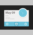 time widget vector image vector image