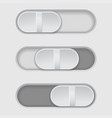 toggle switch buttons gray set vector image vector image