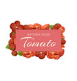tomatoes eco summer vegetables organic banner vector image vector image