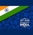 tricolor banner with indian flag for 15th august vector image vector image