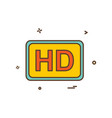 video quality icon design vector image vector image