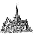 wooden chapel vector image vector image