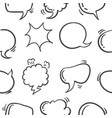 pattern style text balloon hand draw vector image
