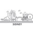 sidney architecture line skyline vector image