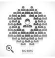 Concept of big boss team building vector image