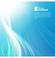 Blue sky with glowing rays and lines vector image