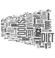 a good raw diet for your health text word cloud vector image vector image