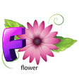 A letter F for flower vector image vector image