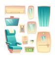 airliner saloon interior design element set vector image