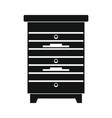 apiary honey hive in black flat style vector image