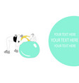 athletic girl doing pilates exercises with a ball vector image vector image