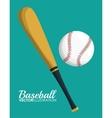 Ball and bat of baseball sport design