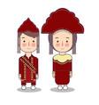 bangka belitung traditional national clothes of vector image vector image