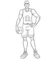 basketball player line art vector image
